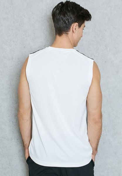 adidas. D2M 3 Stripe Vest