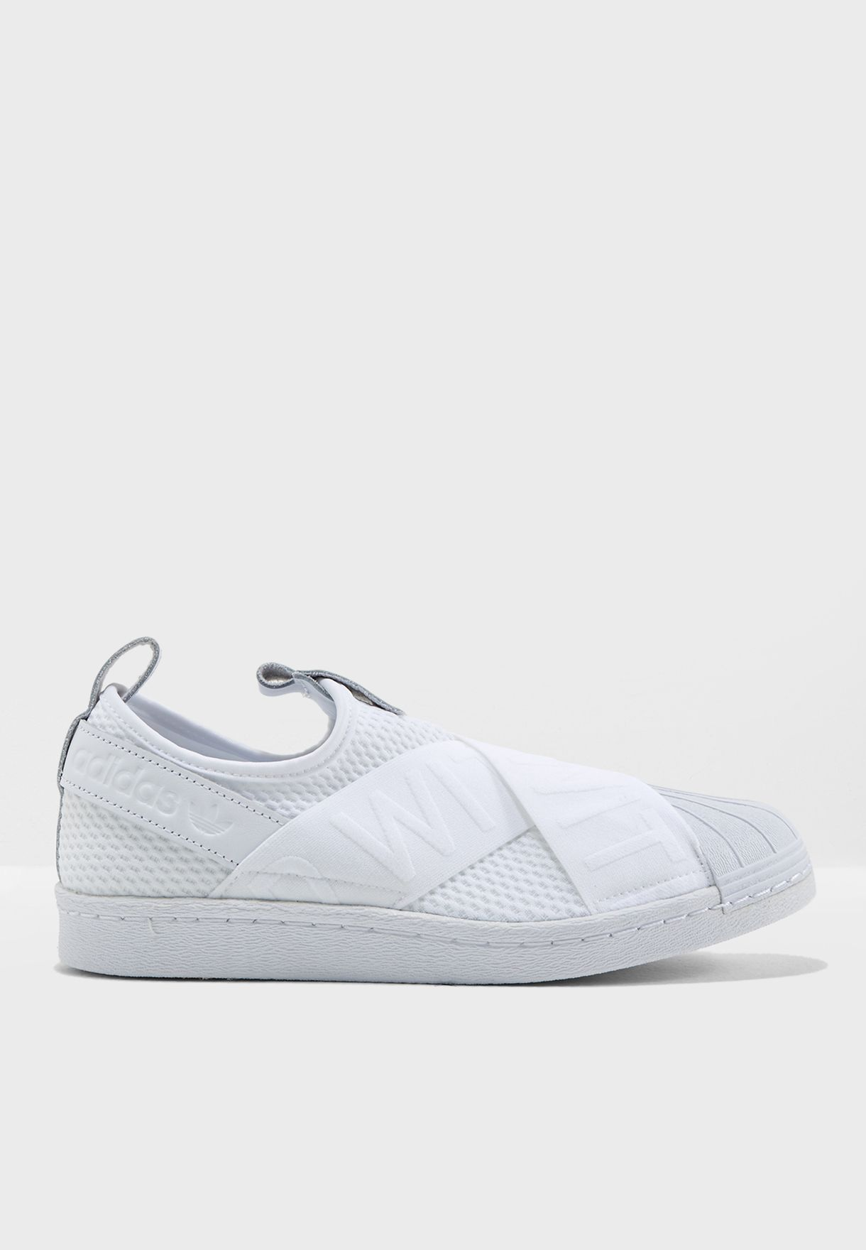 Shop adidas Originals white Superstar Slipon CQ2381 for Women in Saudi -  AD478SH80BDV 37bd3bdba568