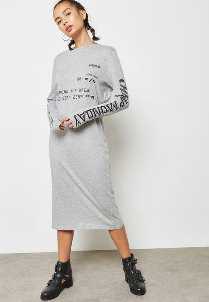 Slogan Shift Dress