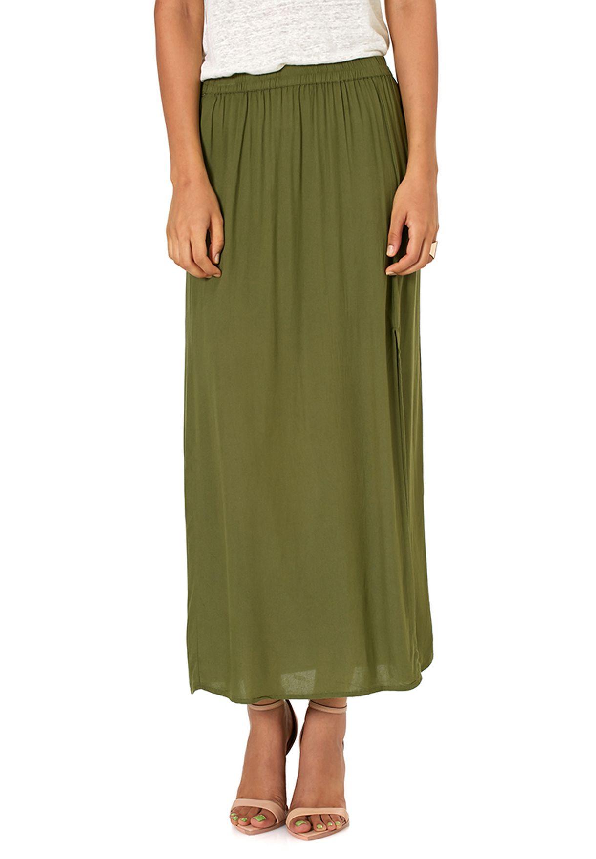 Skirt moda Beige Vero Green Ankle Women j5RA4L
