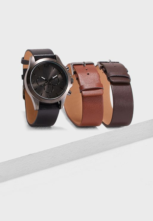 Botond Interchangeable Strap Watch