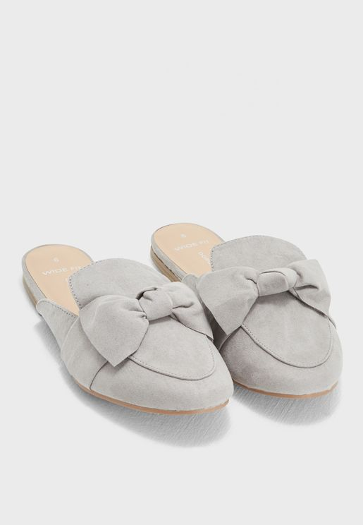 Wide Fit Lux Mules