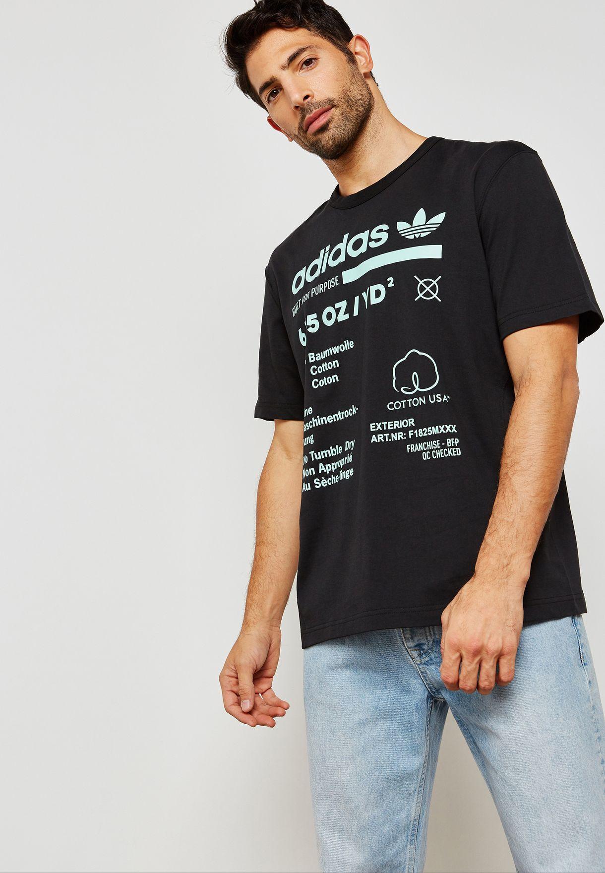 658bd0b71 Shop adidas Originals black Kaval Graphic T-Shirt DM1486 for Men in ...