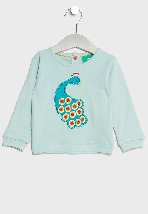 Infant Organic Peacock T-Shirt