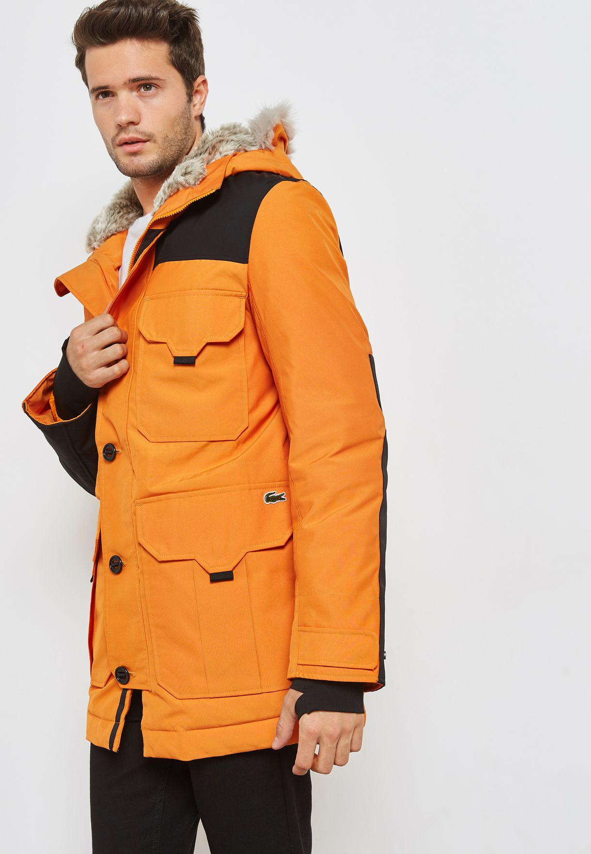 taille 40 a4324 445b0 Canvas Parka Hooded Jacket