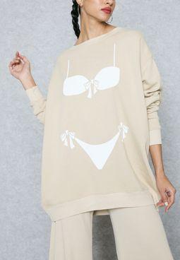 Bikini Print Sweater