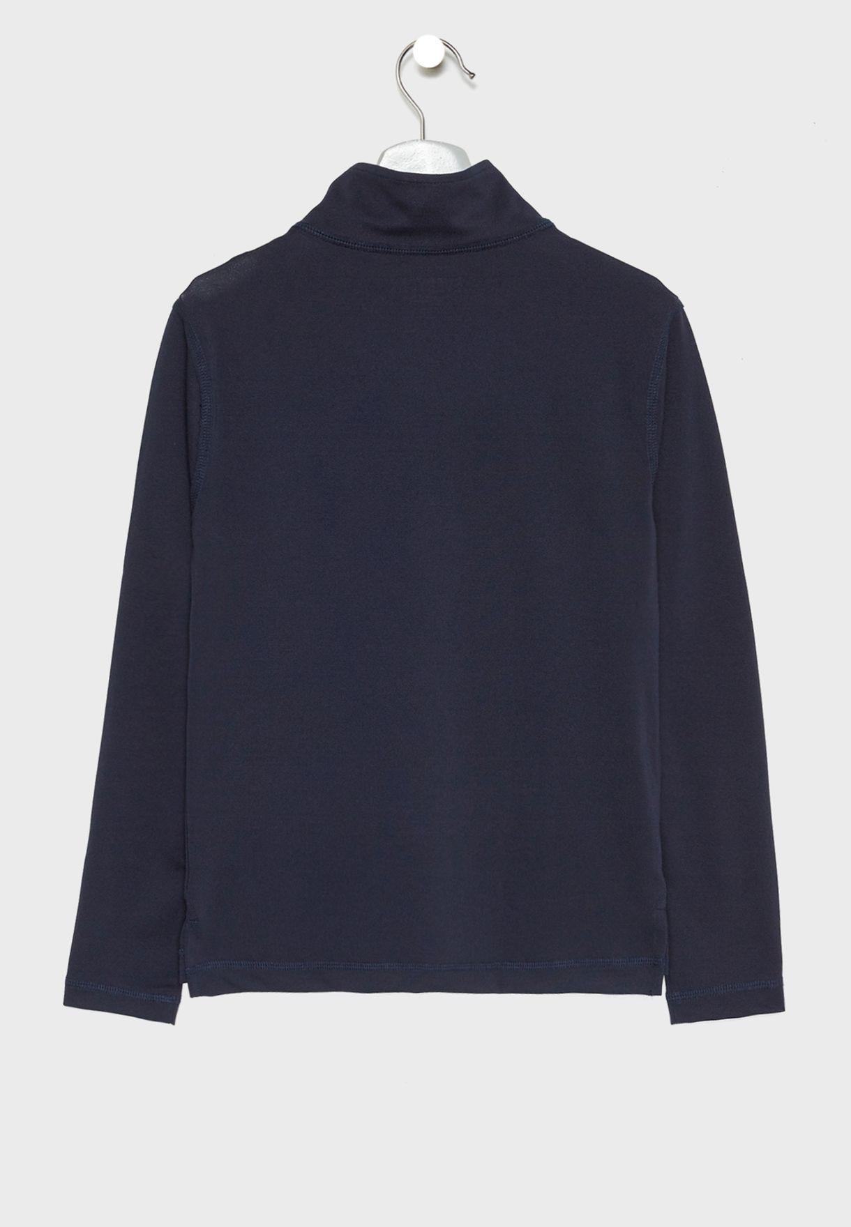 Teen Zip Detail Sweatshirt
