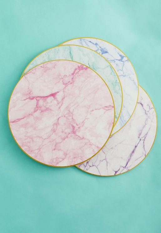 4 مفارش دائرية لطاولة الطعام