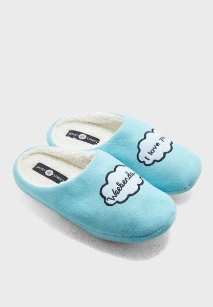 Weekends I Love You Bedroom Slippers