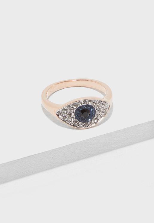Duo Pe Evil Eye Ring