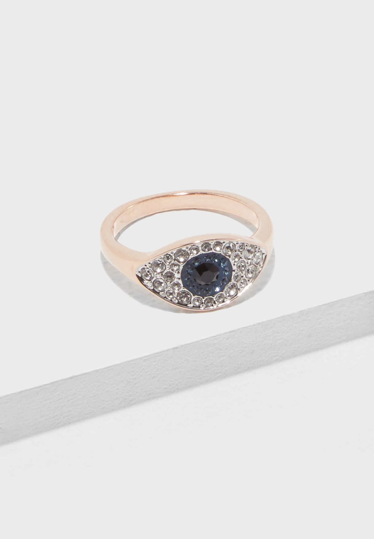 4d7d76712ea1 Shop Swarovski gold Duo Pe Evil Eye Ring 5425858 5441193 5441202 ...
