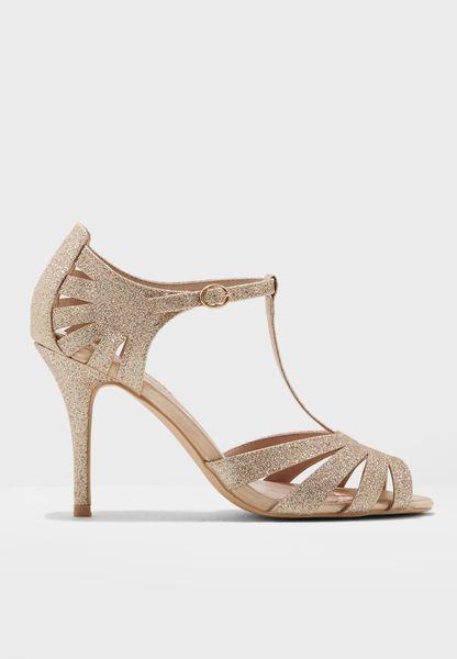 Glitter T Strap Sandal