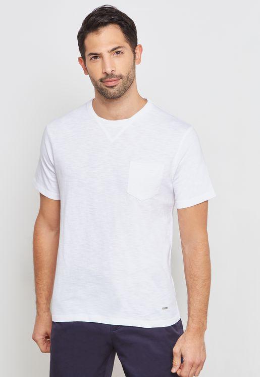 Chest Pocket Crew Neck T-Shirt