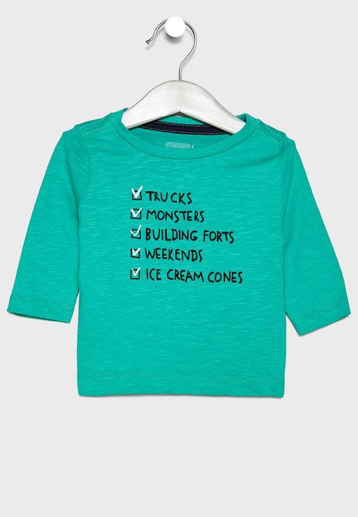 Infant Checklist Graphic T-Shirt