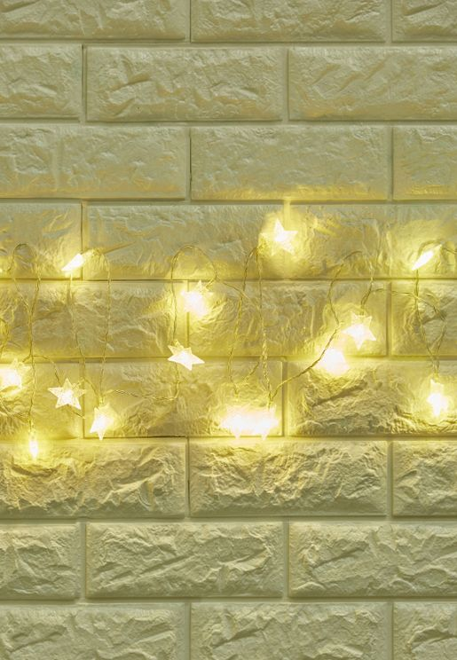 Battery Powered LED Stars String Lights