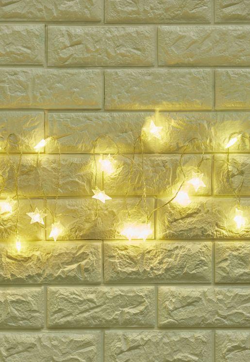 Battery Powered LED Stars String Lights