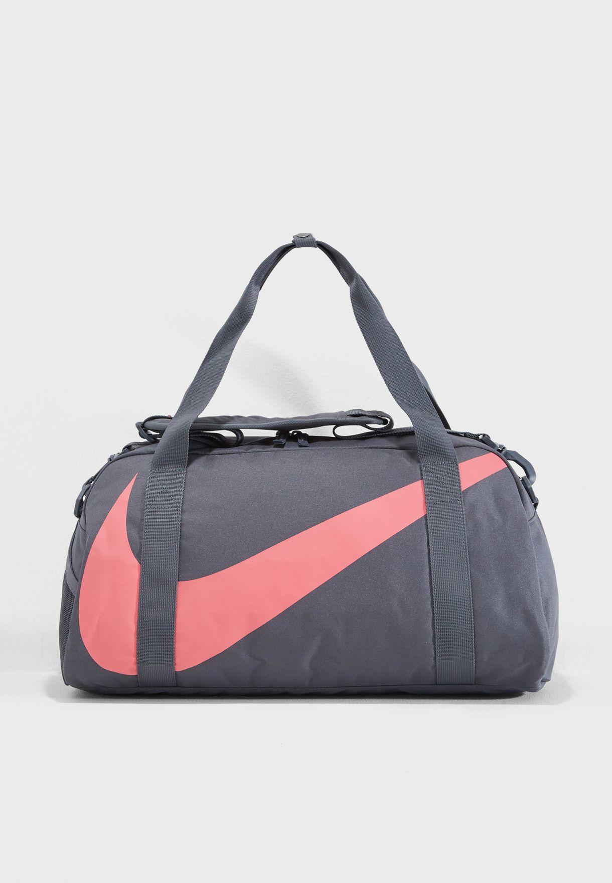 568bc1208c Shop Nike grey Gym Club Duffel BA5567-021 for Women in Saudi ...