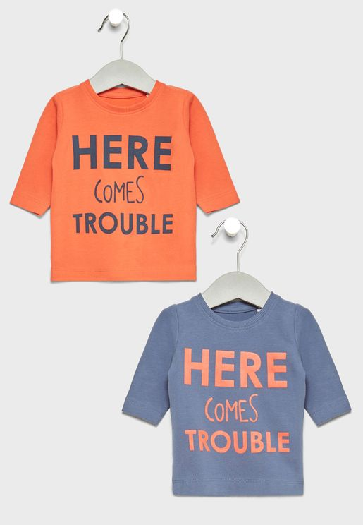 Infant 2 Pack Slogan T-Shirts