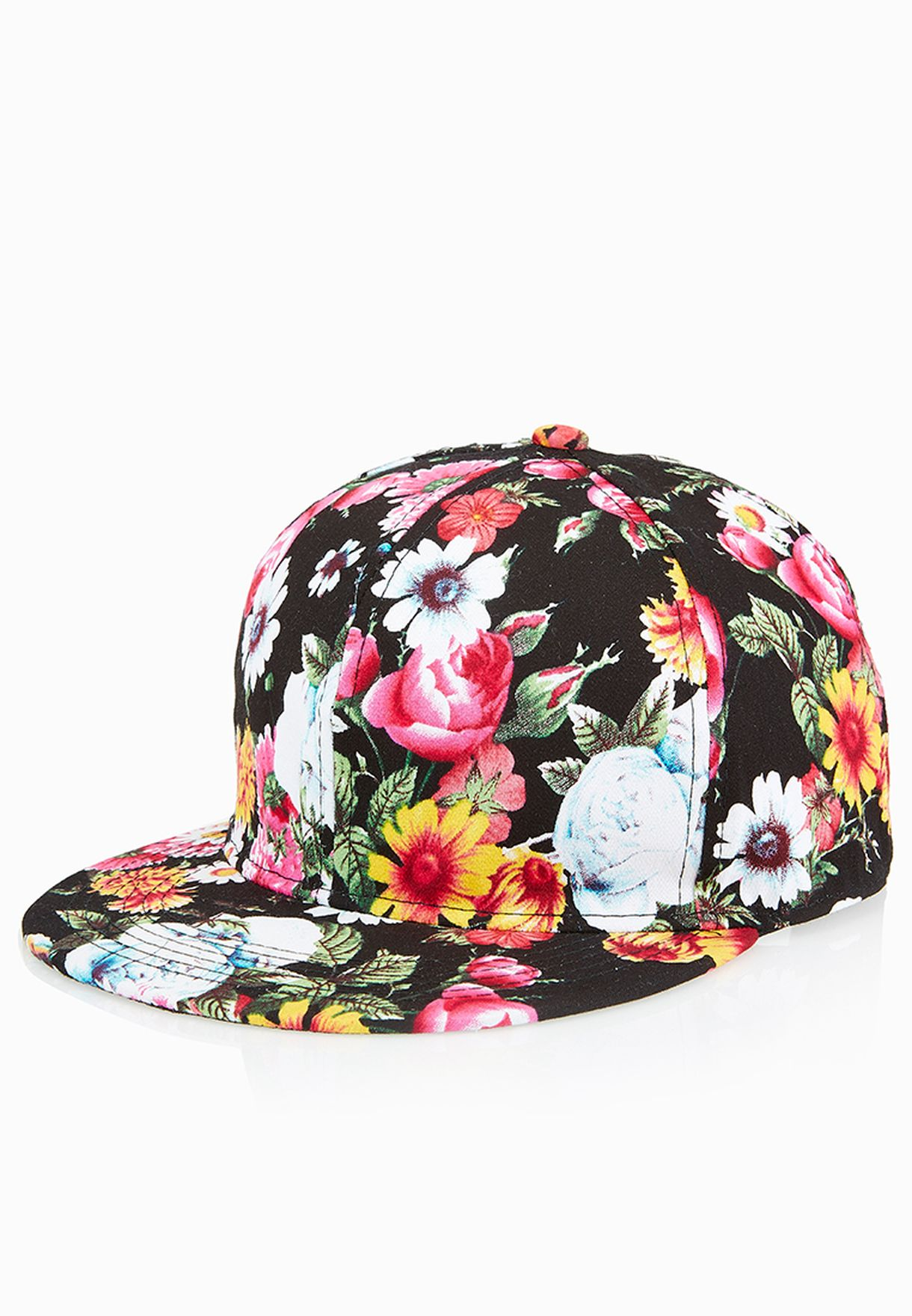 8f93e85bf07 Shop Ginger black Floral Print Cap 514-A0042 for Women in Saudi -  GI121AC70GXT