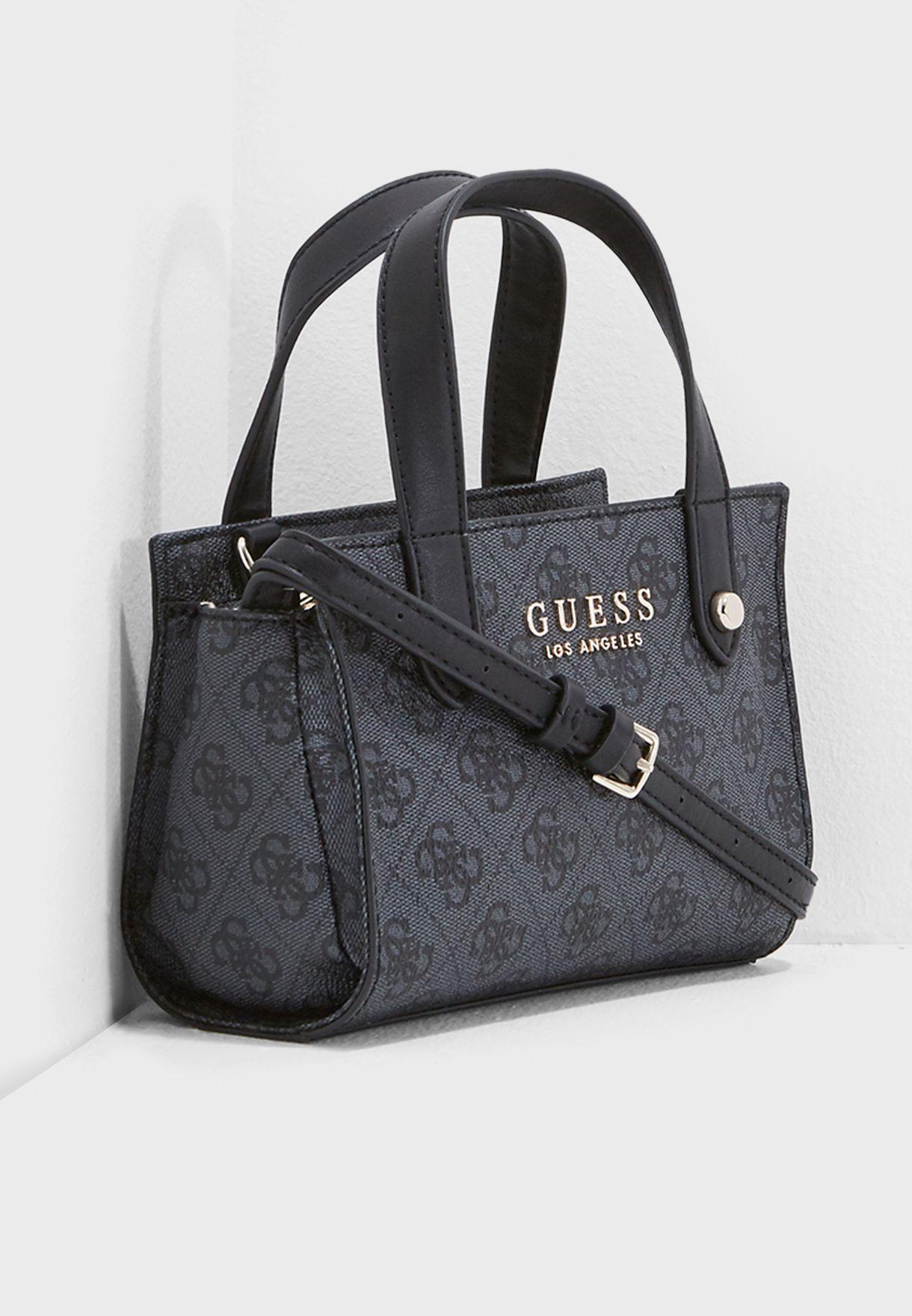 ba9bf49624ae Shop Guess black Mini Florence Shopper SG699176COA for Women in Qatar -  GU094AC70WWN