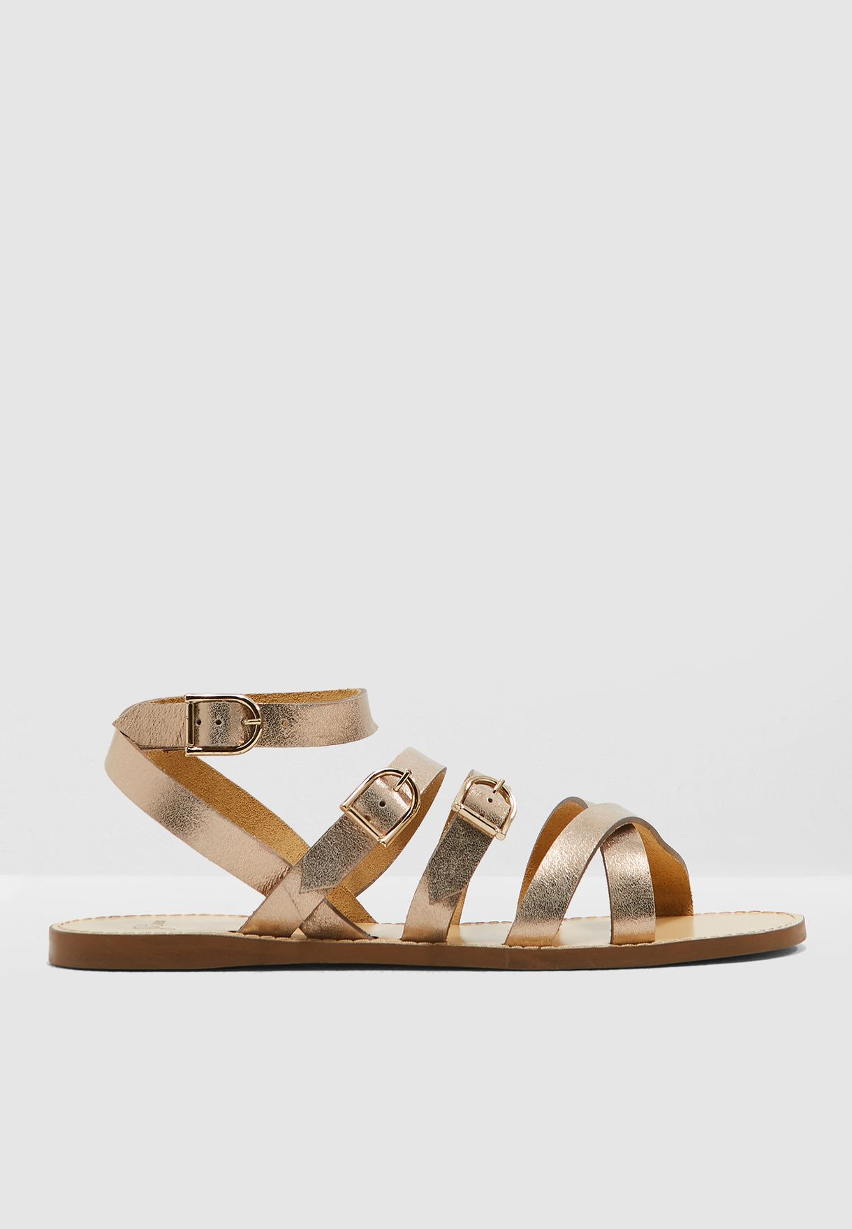 Strappy Buckle Sandal