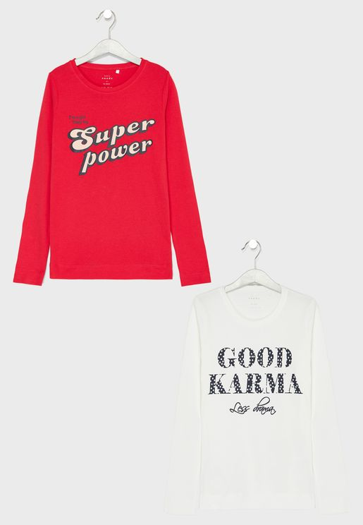 Teen 2 Pack Graphic Tops