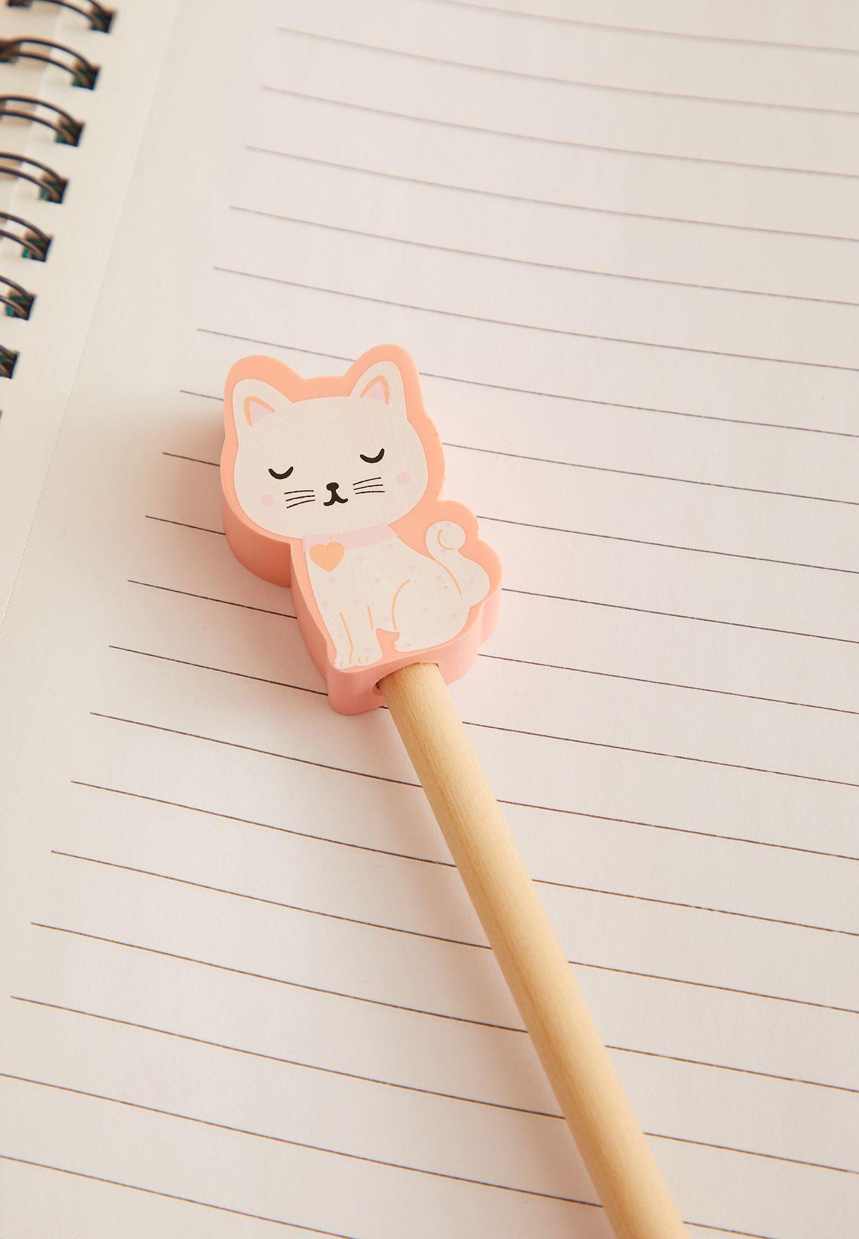 Cutie Cat Pencil With Eraser Topper