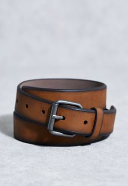 Tan Distressed Leather Belt