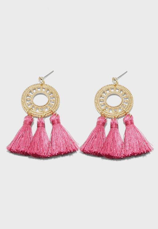Statement Filigree Tassel Earrings