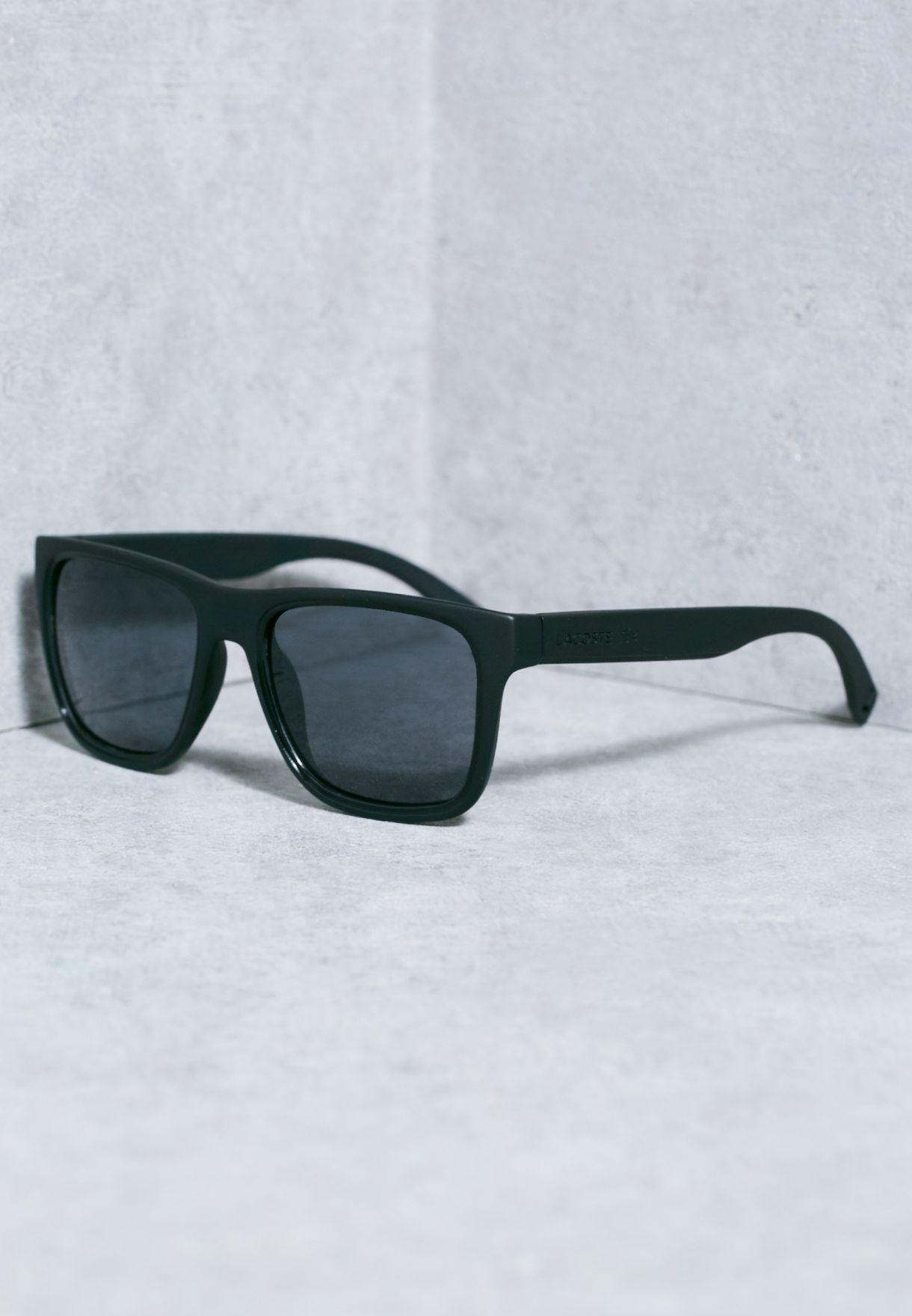 0b80beea7 تسوق نظارة شمسية واي فيرر ماركة لاكوست لون أسود L816S-001 في قطر ...