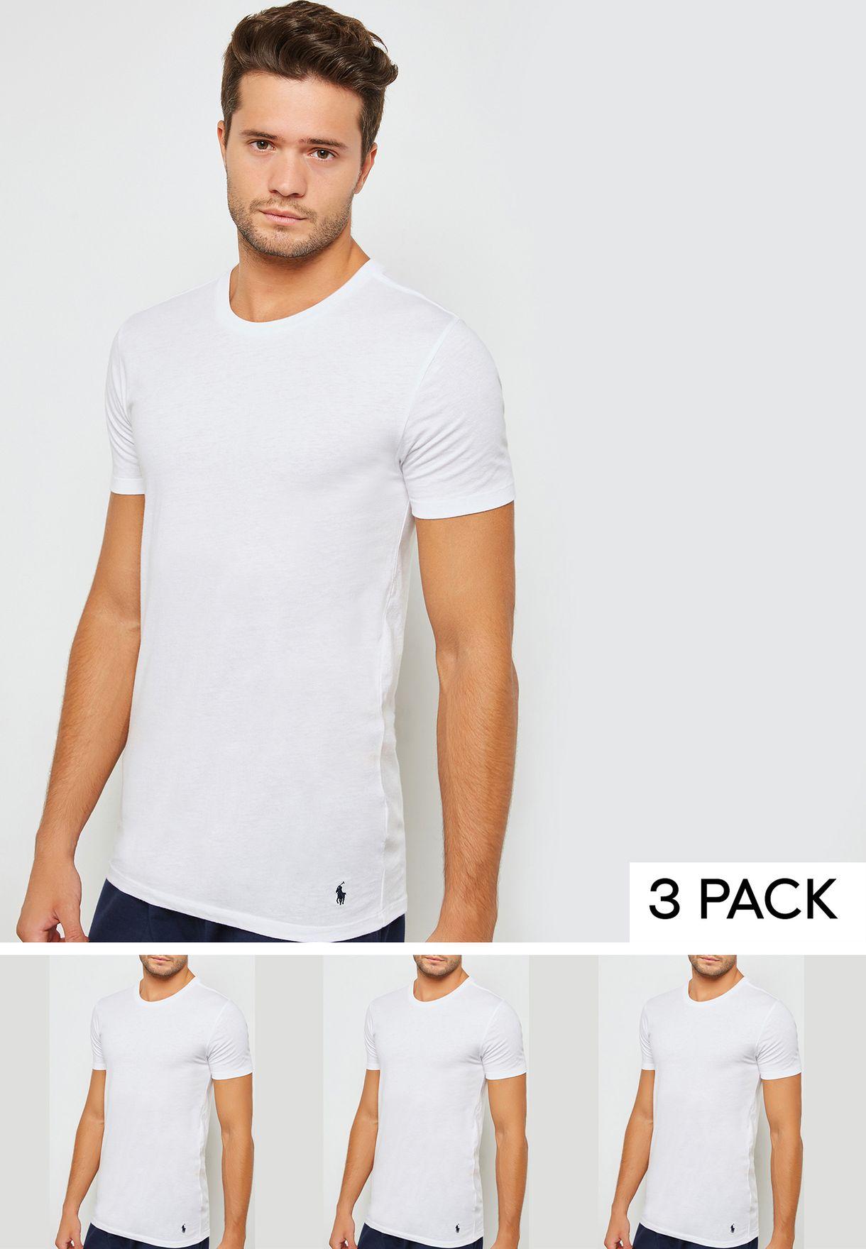 Shop Polo Ralph Lauren white 3 Pack T-Shirt 714709274002 for Men in ... bf5972c274f