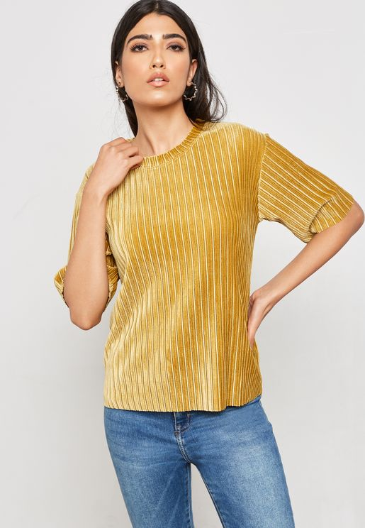 Ribbed Velvet T-shirt