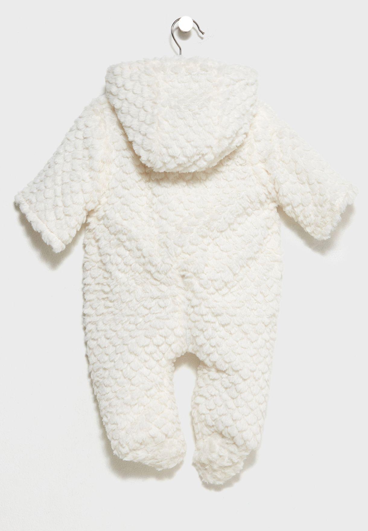 9543ced48 Shop Minoti white Infant Snowsuit BUNNY 6 for Kids in Kuwait ...
