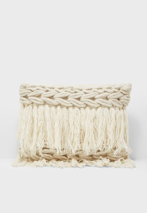 Rectangle Knitted Cushion With Insert