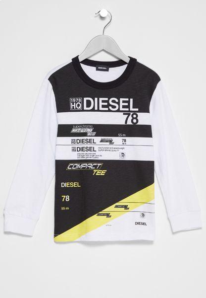 Kids Diesel Print T-Shirt
