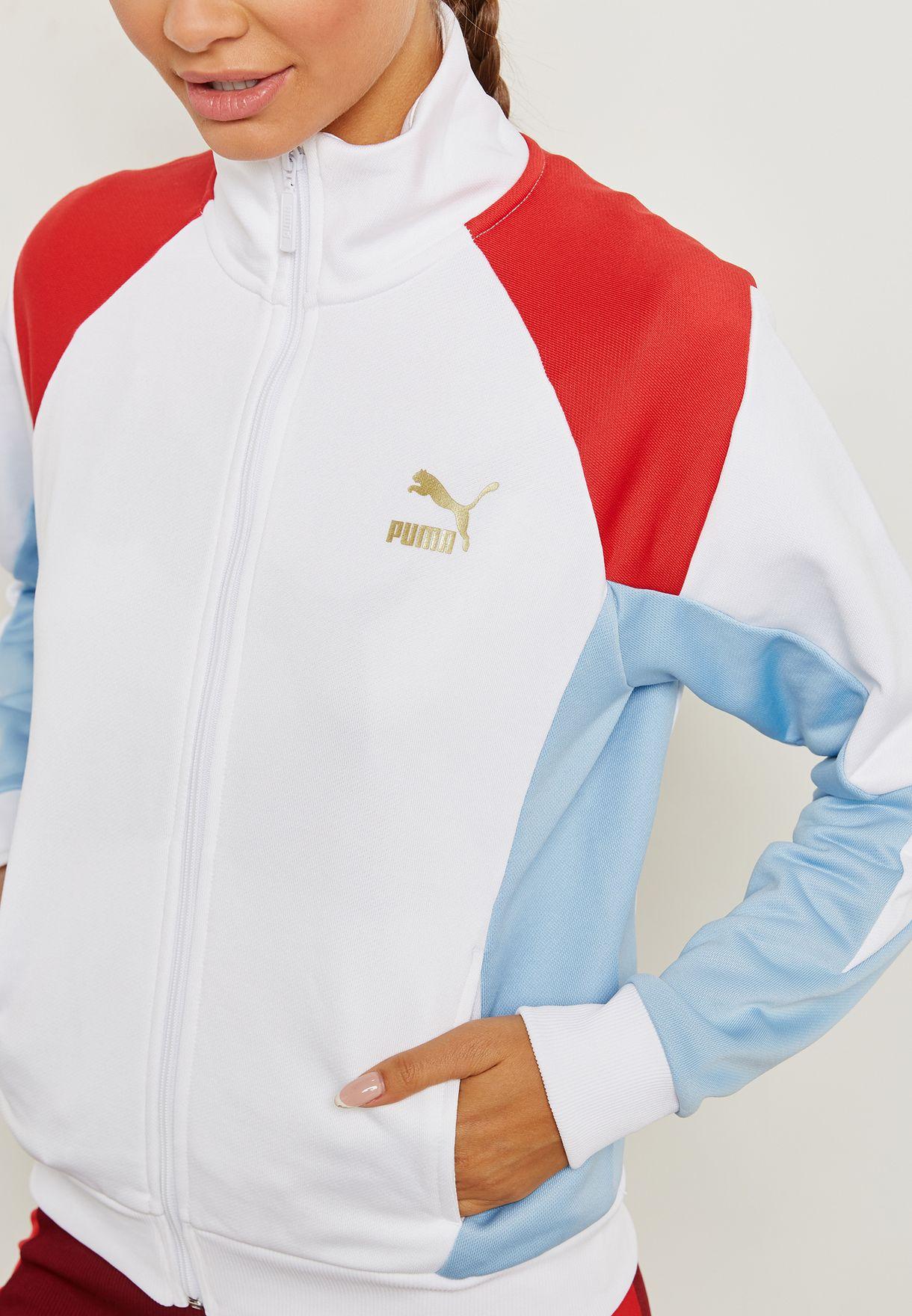b1c41f867445 Shop PUMA white Retro Track Jacket 57651102 for Women in UAE ...