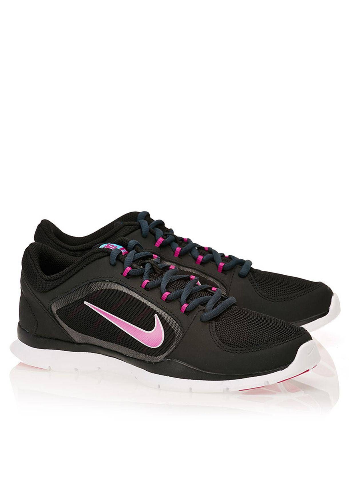b52b97df380d Shop Nike black Flex Trainer 4 643083-016 for Women in Kuwait ...