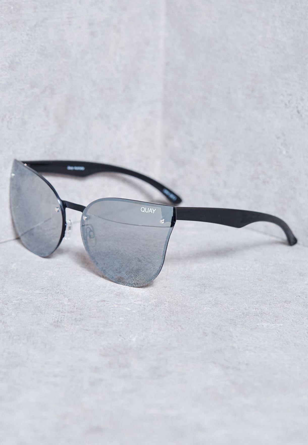 191d7f8792c Shop Quay Australia black Higher Love Sunglasses QW-000131-BLK SLV ...