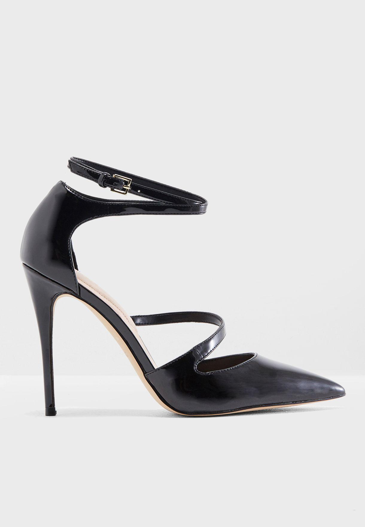 35ce1f002a35 Shop Aldo black Sevoivia Strappy High Heel Pump SEVOIVIA95 for Women ...