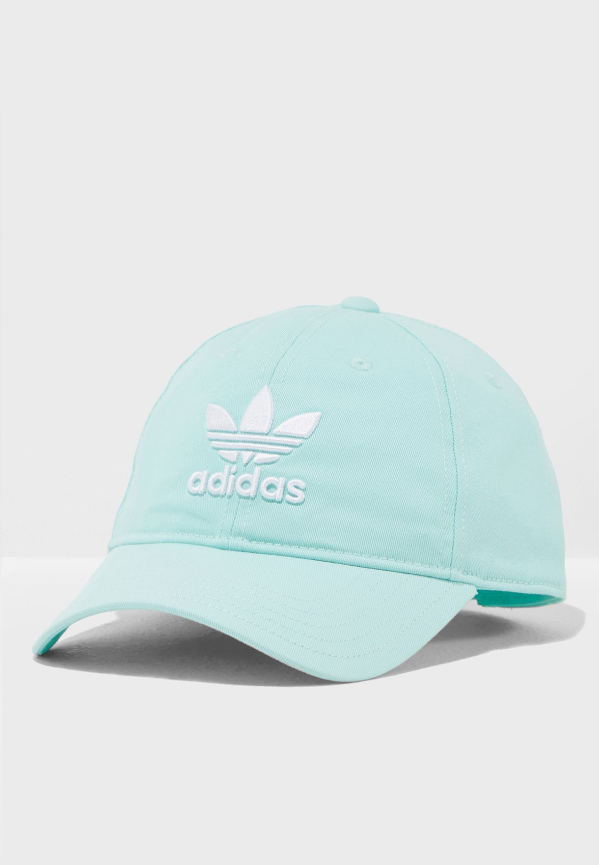 c2df6b4d Shop adidas Originals green adicolor Trefoil Cap DJ0883 for Women in ...