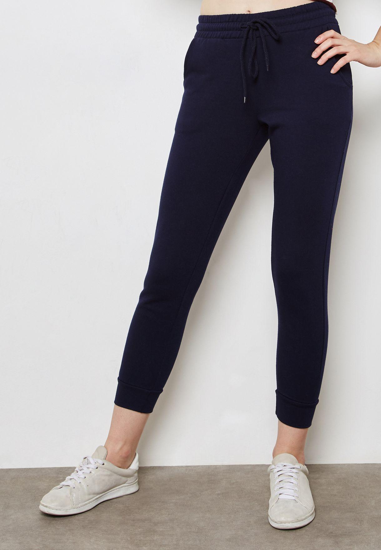 2e3d725a7d Shop Forever 21 navy Tie Waist Pants 144819 for Women in Kuwait ...