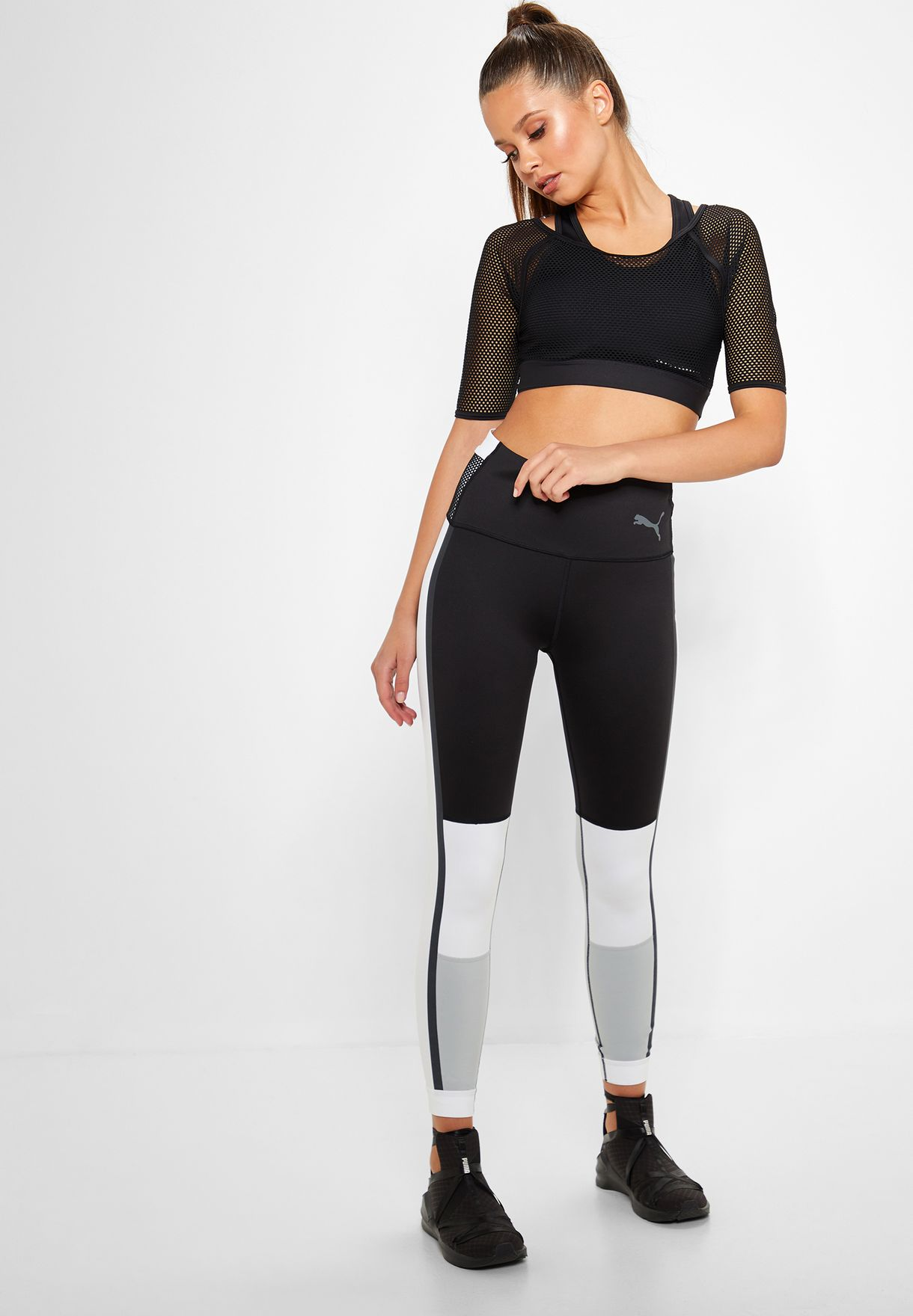 c21911839e42 Shop PUMA black Selena Gomez 7 8 Leggings 51780601 for Women in UAE ...