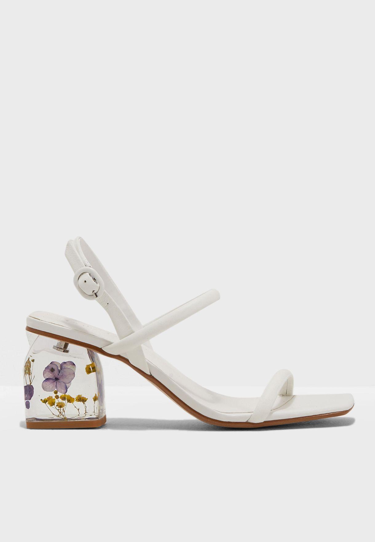 Shop mango white sandals flower 23015687 for women in globally sandals flower mightylinksfo