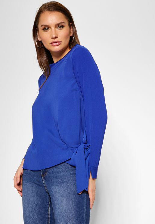 Tie Long Sleeve Top
