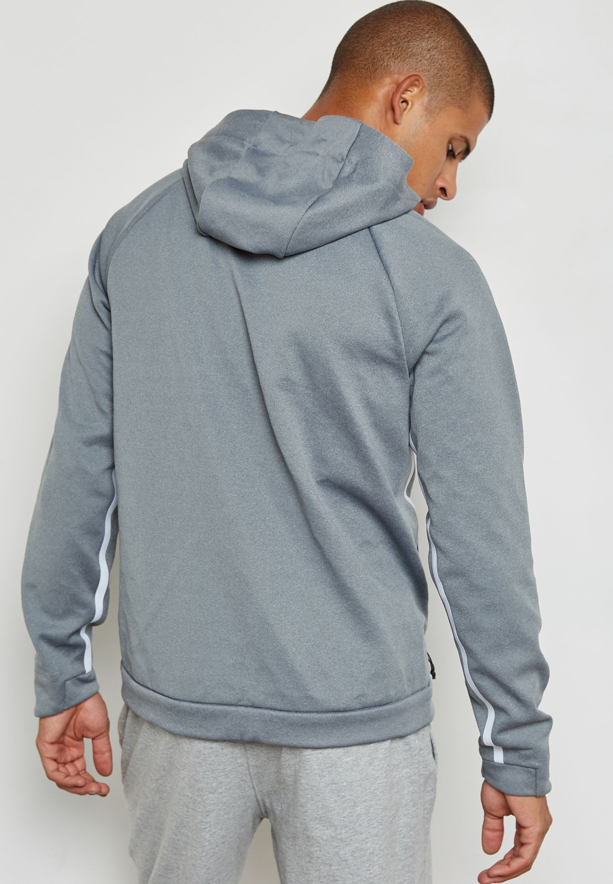 Shop Nike grey Therma Sphere Hooded Jacket 860515-100 for Men ... d72cc416f055