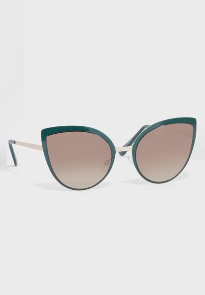 Enamel Cat Eye Sunglasses
