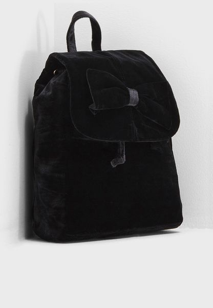 Knot Bow Fold Over Backpack
