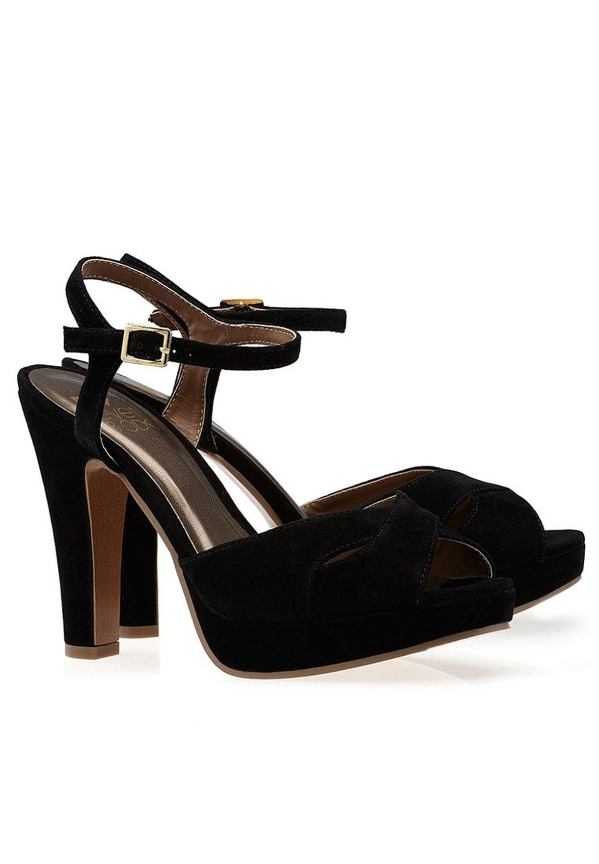 cc9e8874731 Shop Even odd black Classic High Heel Sandal for Women in UAE ...