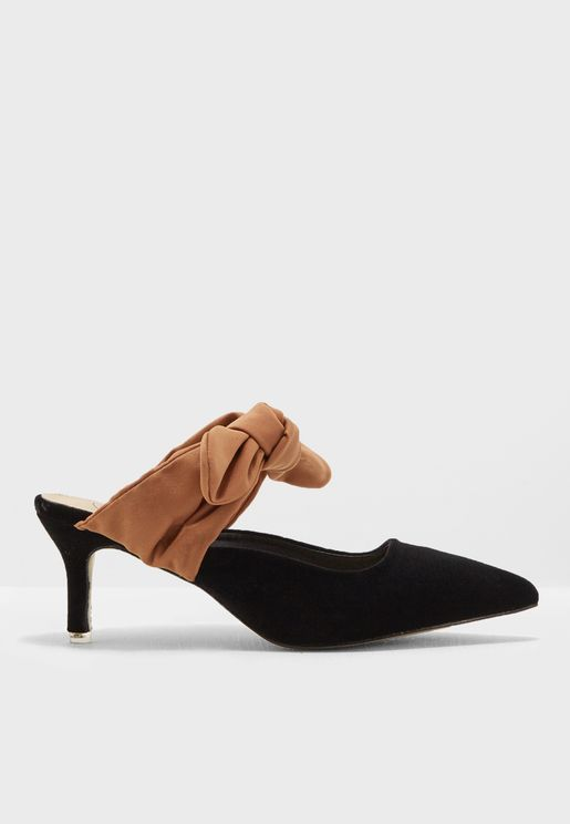 Ahna Bow Strap Pumps