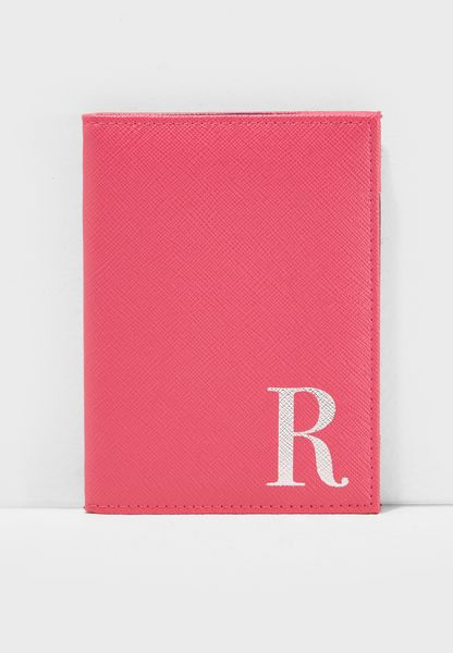 R Letter Passport Cover